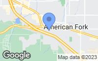 Map of American Fork, UT