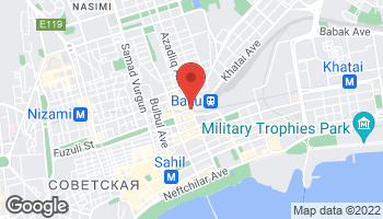 Map of Azadlig Ave & Fuzuli St in Baku