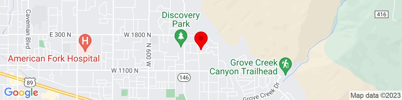 Google Map of 40.379833, -111.735282