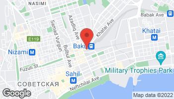 Map of Azadlig Ave. & Fuzuli Street in Baku