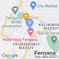 Расположение гостиницы у Валентины на карте
