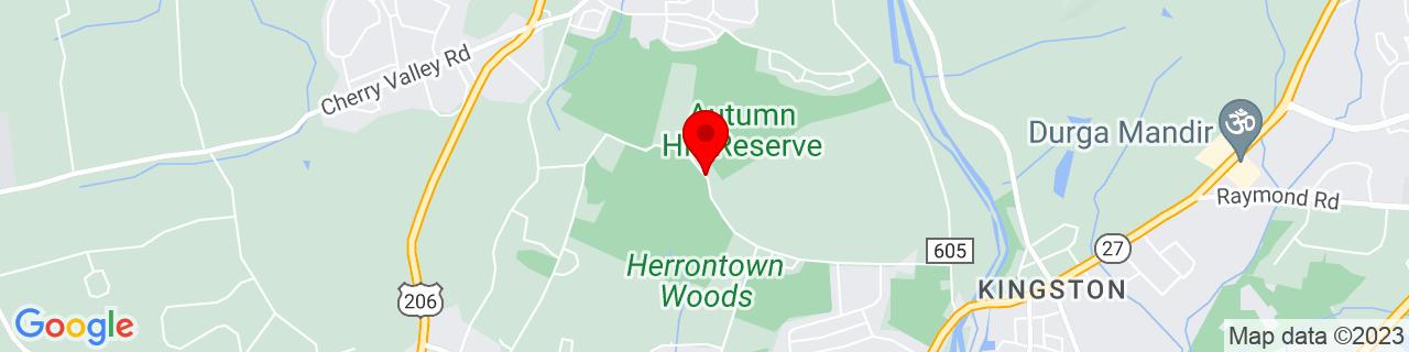 Google Map of 40.3821265, -74.64054019999999