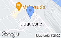 Map of Duquesne, PA