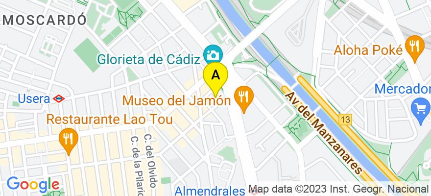situacion en el mapa de . Direccion: C/ Perales de Tajuña, 6  2º A, 28026 Madrid. Madrid