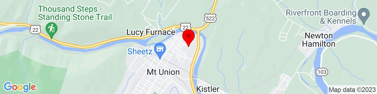 Google Map of 40.3901066, -77.8748671