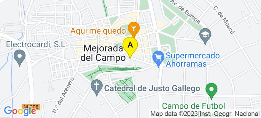 situacion en el mapa de . Direccion: Cl. Rosario Salamanca 16, 1º-1, 28840 Mejorada del Campo. Madrid