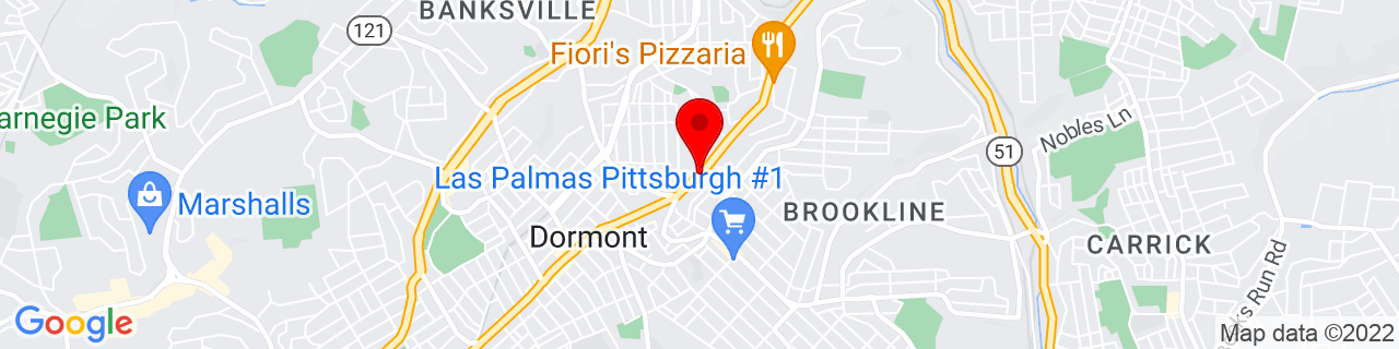 Google Map of 40.3996587, -80.0244029
