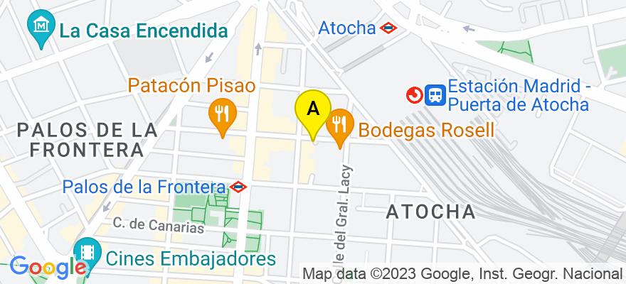 situacion en el mapa de . Direccion: Pº Delicias 30, 28045 Madrid. Madrid