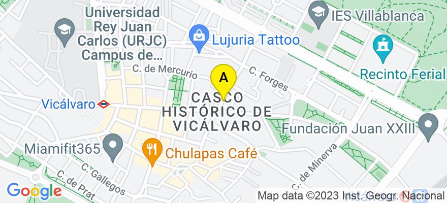 situacion en el mapa de . Direccion: c/ Jardín de la Duquesa, 20 A Local, 28032 Madrid. Madrid