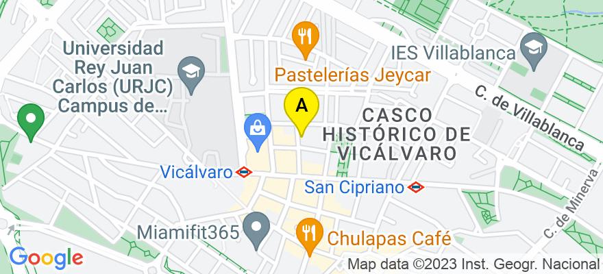 situacion en el mapa de . Direccion: Calle Villalmanzo 9, 28032 Madrid. Madrid