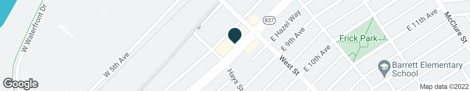 Google Map of133 W 8TH AVE