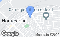 Map of Homestead, PA