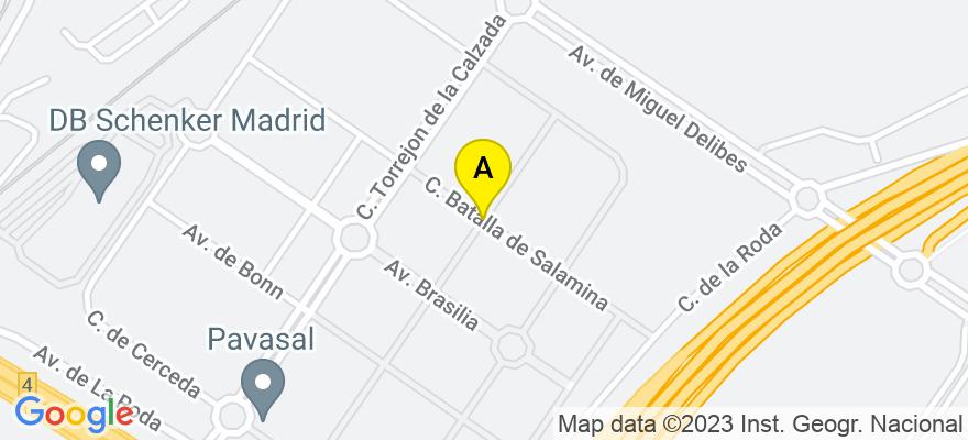 situacion en el mapa de . Direccion: Avda brasil, 28080 Madrid. Madrid