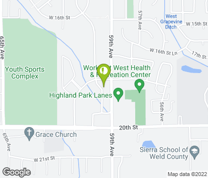 Map of 1801 59th Ave in Greeley