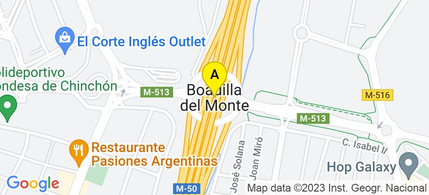 situacion en el mapa de . Direccion: Calle Mártires 31, 3ºA, 28660 Boadilla del Monte. Madrid