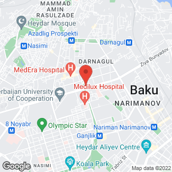Map of Ganjlik Mall in Baku