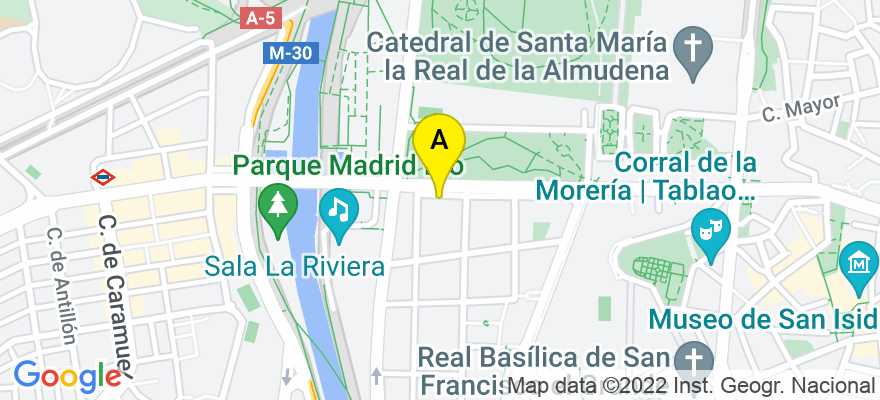 situacion en el mapa de . Direccion: segovia 71, 1º G, 28005 Madrid. Madrid