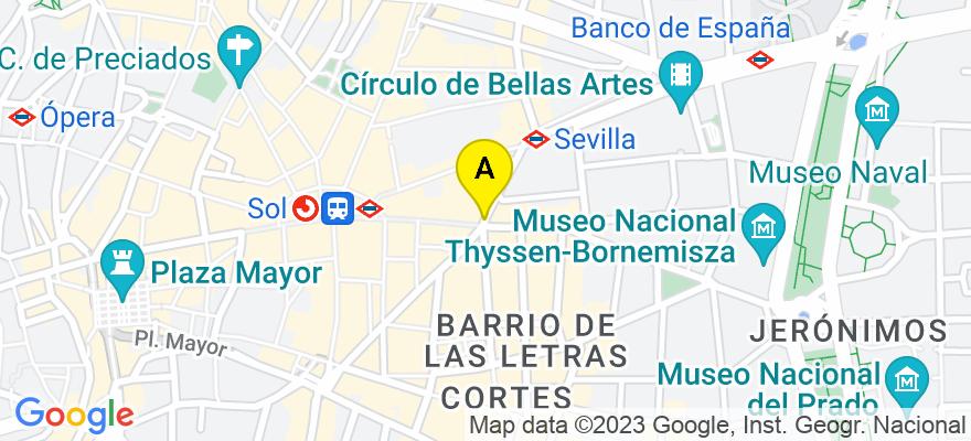 situacion en el mapa de . Direccion: Fernández de los Ríos 98, 6 b, 28015 Madrid. Madrid