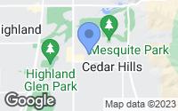 Map of Cedar Hills, UT