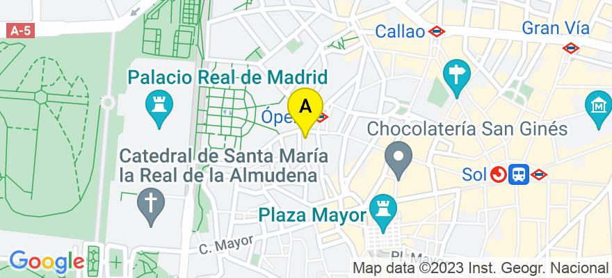 situacion en el mapa de . Direccion: C/ Independencia, 3, 28013 Madrid. Madrid