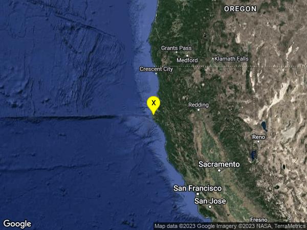 earthquake 11km NNW of Petrolia, CA