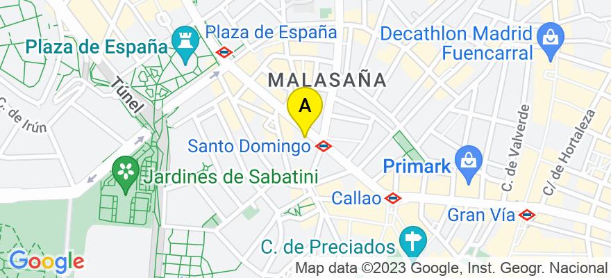 situacion en el mapa de . Direccion: C/ Gran Vía, 55. 10-D, 28013 Madrid. Madrid