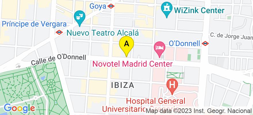 situacion en el mapa de . Direccion: O'Donnell 43, 28009 Madrid. Madrid