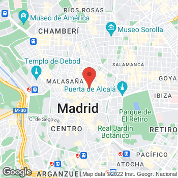 Map of Tony Roma's at Calle Hortaleza, 34, Madrid, Madrid 28004
