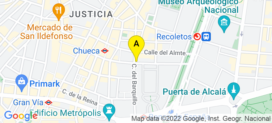 situacion en el mapa de . Direccion: Barquillo 22, 4º D, 28004 Madrid. Madrid
