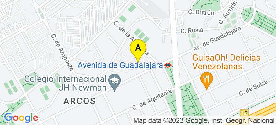 situacion en el mapa de . Direccion: avda guadalajara 36, 28032 Madrid. Madrid
