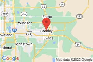 Map of Greeley