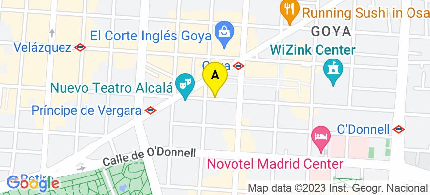 situacion en el mapa de . Direccion: Calle Jorge Juan 69, 28009 Madrid. Madrid