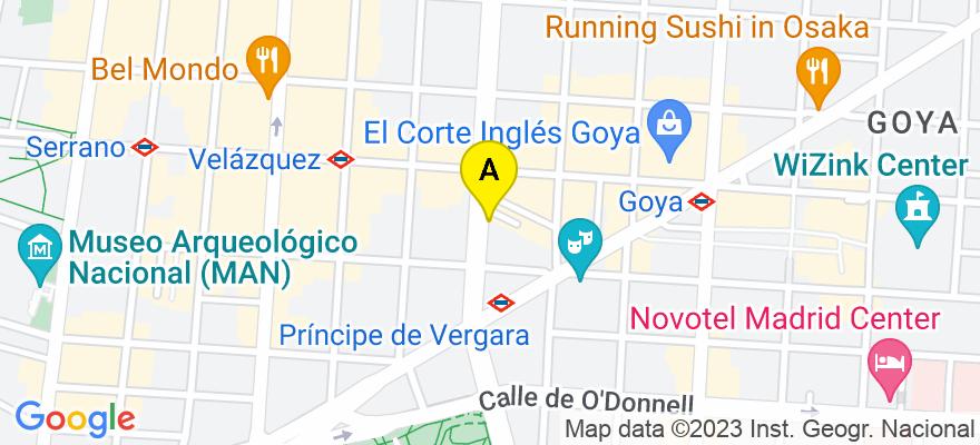 situacion en el mapa de . Direccion: calle Príncipe, 12, 4 B, 28012 Madrid. Madrid