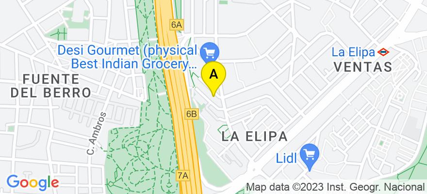 situacion en el mapa de . Direccion: c/ Ricardo Ortiz nº 58, 28017 Madrid. Madrid