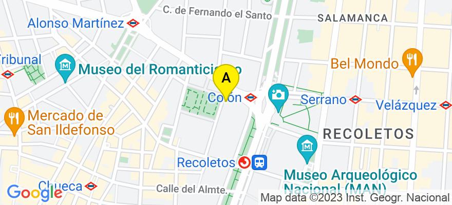situacion en el mapa de . Direccion: Marqués de la Ensenada 16, 1203, 28004 Madrid. Madrid