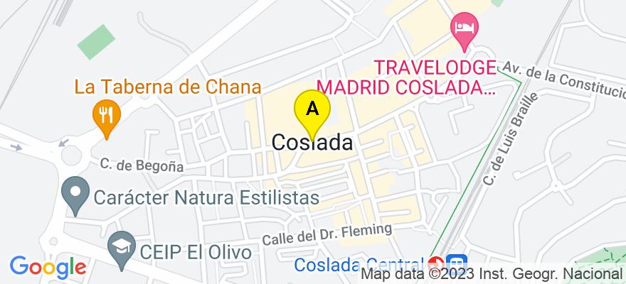 situacion en el mapa de . Direccion: avda. de roma 17, 28822 Coslada. Madrid