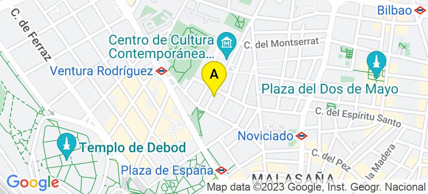 situacion en el mapa de . Direccion: C/ Sin nombre, 28001 Madrid. Madrid