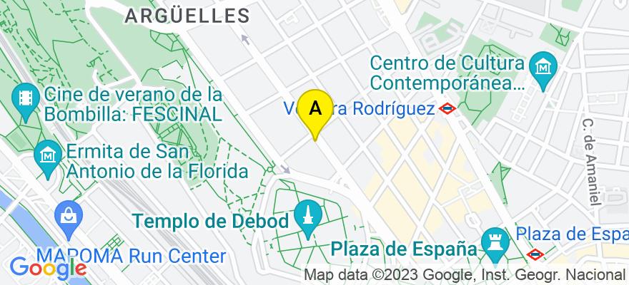 situacion en el mapa de . Direccion: Calle Ferraz, 11, 28008 Madrid. Madrid