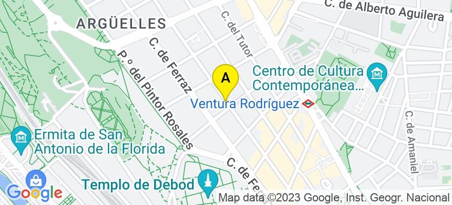 situacion en el mapa de . Direccion: C/ Juan Alvarez Mendizabal 43 bajo A, 28008 Madrid. Madrid