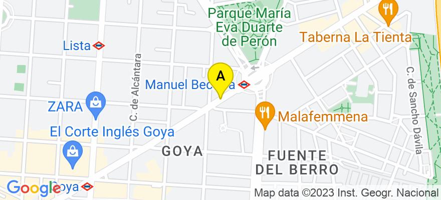 situacion en el mapa de . Direccion: CALLE ALCALA NÚMERO 114 1º-C, 28009 Madrid. Madrid