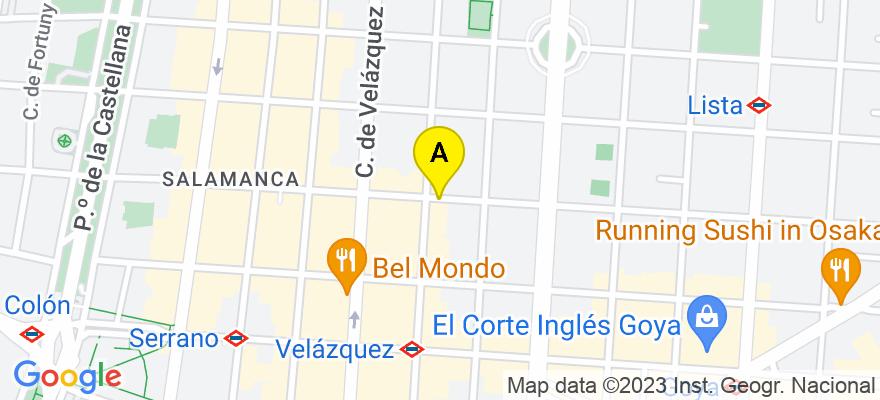 situacion en el mapa de . Direccion: Ayala 52, 28001 Madrid. Madrid