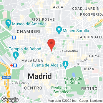 Map of Tony Roma's at Calle Sagasta 30, Madrid,  28004