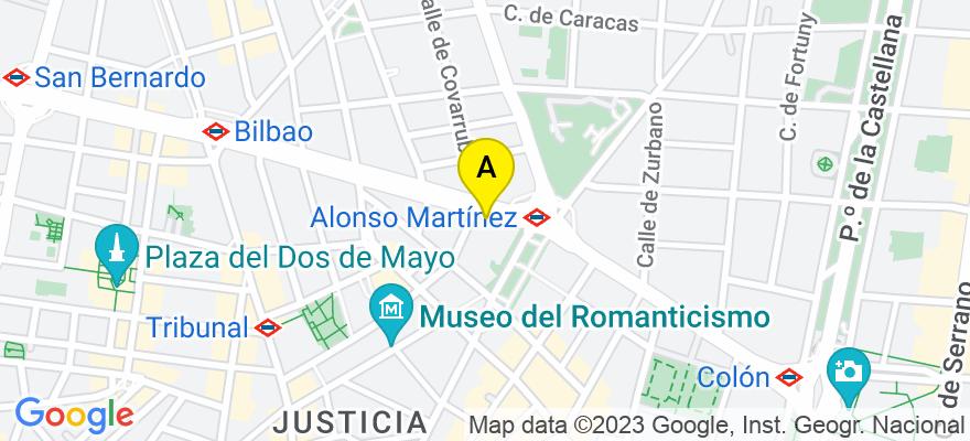 situacion en el mapa de . Direccion: Calle Sagasta 30, 28010 Madrid. Madrid