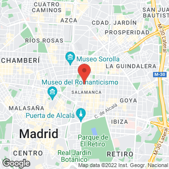 Map of Salvatore Ferragamo at Calle Serrano, 47, Madrid, Madrid 28001