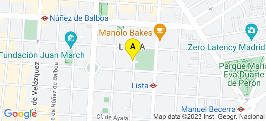 situacion en el mapa de . Direccion: C/ General Díaz Porlier 57, 4º C, 28006 Madrid. Madrid