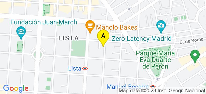 situacion en el mapa de . Direccion: C/ Alcántara, 49, 28006 Madrid. Madrid