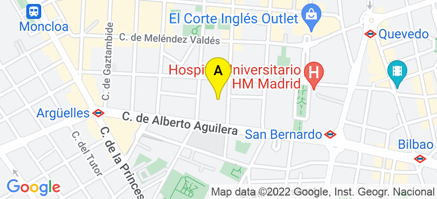 situacion en el mapa de . Direccion: calle Galileo 7 Piso 5 Puerta 1, 28015 Madrid. Madrid