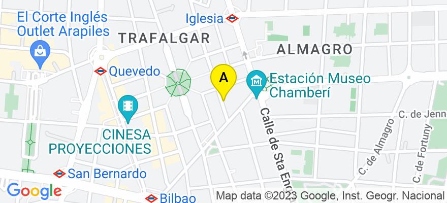 situacion en el mapa de . Direccion: Calle Juan de Austria, 6 bajo, 28010 Madrid. Madrid