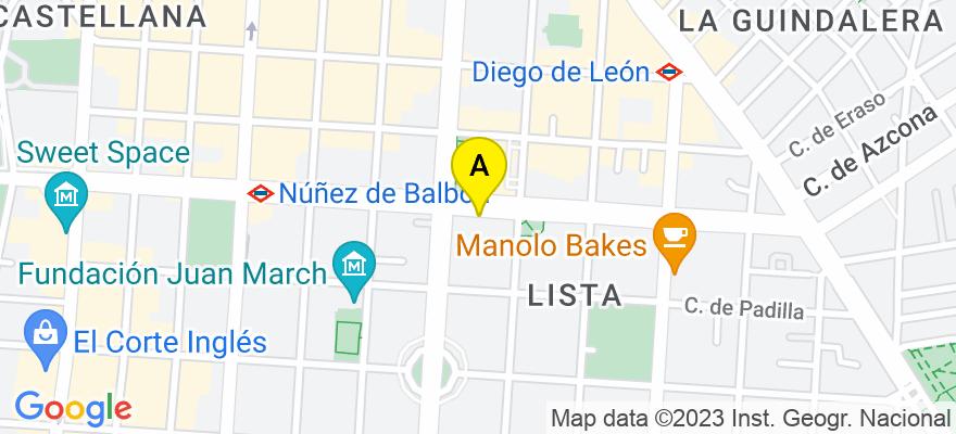 situacion en el mapa de . Direccion: Calle Juan Bravo 34-5C, 28006 Madrid. Madrid