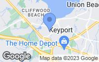 Map of Keyport, NJ